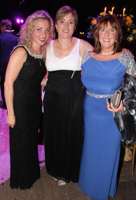 Natasha Charnetskaya, Susan and Mary Sugrue at the Rose Ball on Friday evening. Photo by Dermot Crean