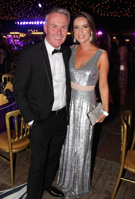 Seamus O'Halloran and Aoife O'Connor at the Rose Ball on Friday evening. Photo by Dermot Crean