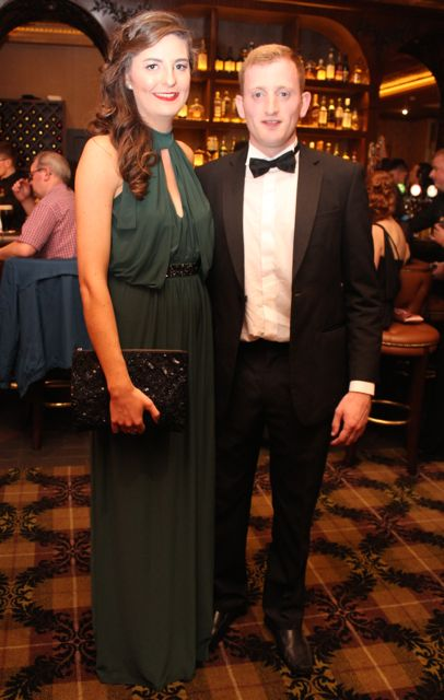April Foley and John Lavin at The Rose Hotel before the Rose Ball on Friday evening. Photo by Dermot Crean