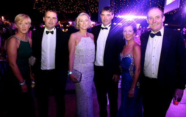 Marie, John, Hazel and Morgan Nix, Jacqui and John Higgins at the Rose Ball on Friday evening. Photo by Dermot Crean