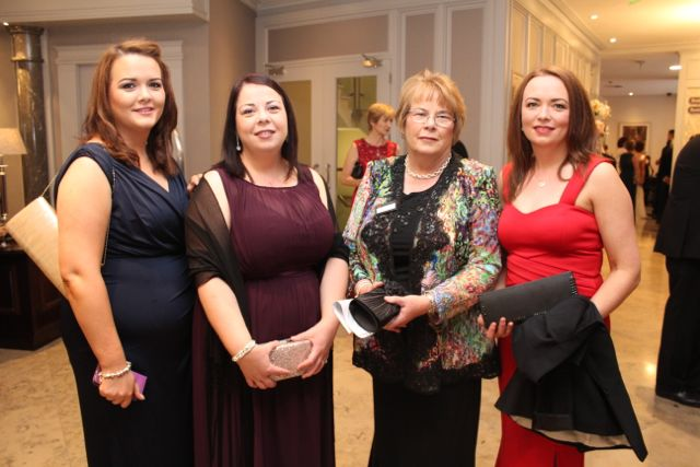 Mother and sisters of the Derry Rose, Emer Cassidy, at The Rose Hotel before the Rose Ball on Friday evening. From left; Roseena Murphy, Branagh O'Kane, Mary Cassidy and Teresa Cassidy at The Rose Hotel before the Rose Ball on Friday evening. Photo by Dermot Crean