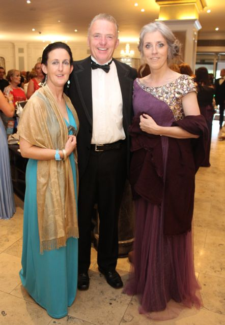Helen and Noel Heaslip and Hannah Cronin at The Rose Hotel before the Rose Ball on Friday evening. Photo by Dermot Crean