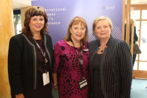 Michele King, Eibhlin Henggeler, The Rose Hotel and Tánaiste Frances Fitzgerald, at the International Business Women's Conference in the Brandon Hotel on Monday. Photo by Dermot Crean