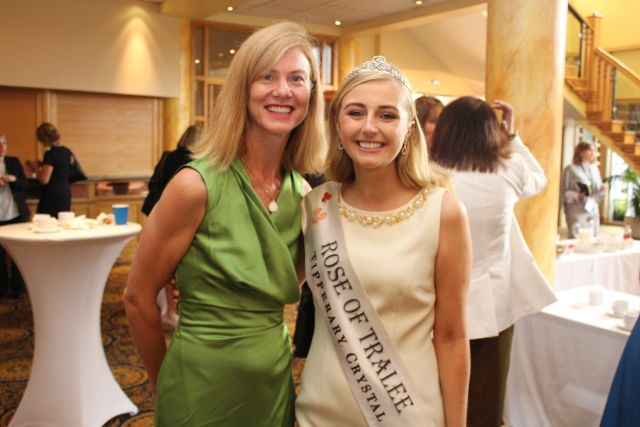 Sinead Lonergan, Enterprise Ireland and Rose of Tralee 2015 Elysha Brennan at the International Business Women's Conference in the Brandon Hotel on Monday. Photo by Dermot Crean