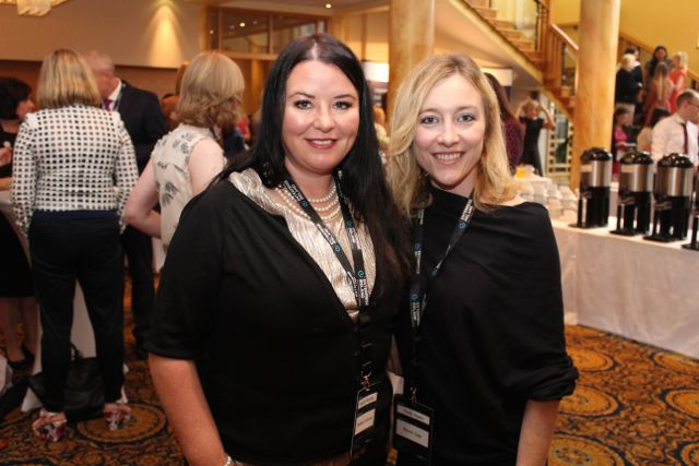 Keelin Murphy, Web Port Global and Trudy Hayes at the International Business Women's Conference in the Brandon Hotel on Monday. Photo by Dermot Crean