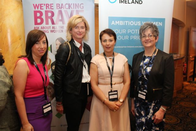 Elaine Tierney, Caroline Sugrue, Siobhan Horgan AIB and Breda Dyland at the International Business Women's Conference in the Brandon Hotel on Monday. Photo by Dermot Crean