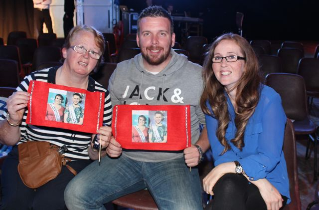 Ann Dunne, Damien Lawlor and Sarah Dunne at the Austin Stacks Strictly Come Dancing night in The Dome on Saturday. Photo by Dermot Crean