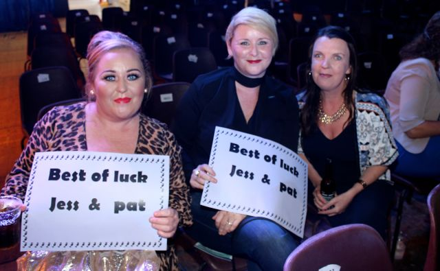 Christine Roche, Karen Roche and Cora Smith at the Austin Stacks Strictly Come Dancing night in The Dome on Saturday. Photo by Dermot Crean