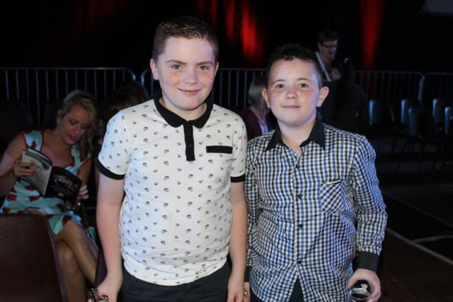 David Hughes and John Paul Conway at the Austin Stacks Strictly Come Dancing night in The Dome on Saturday. Photo by Dermot Crean