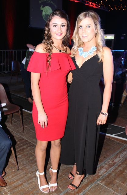 Caoimhe and Georgina Lynch at the Austin Stacks Strictly Come Dancing night in The Dome on Saturday. Photo by Dermot Crean