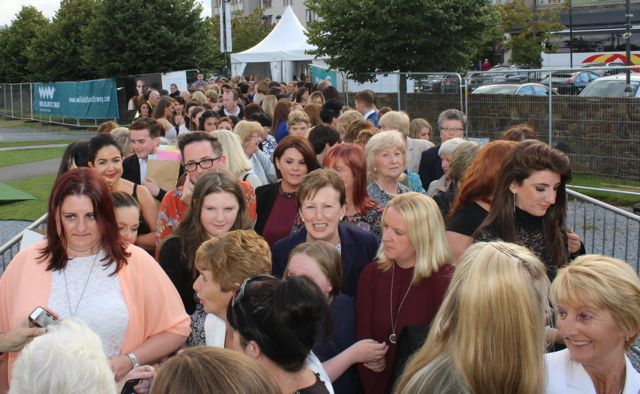 Crowds queuing for the Austin Stacks Strictly Come Dancing night in The Dome on Saturday. Photo by Dermot Crean