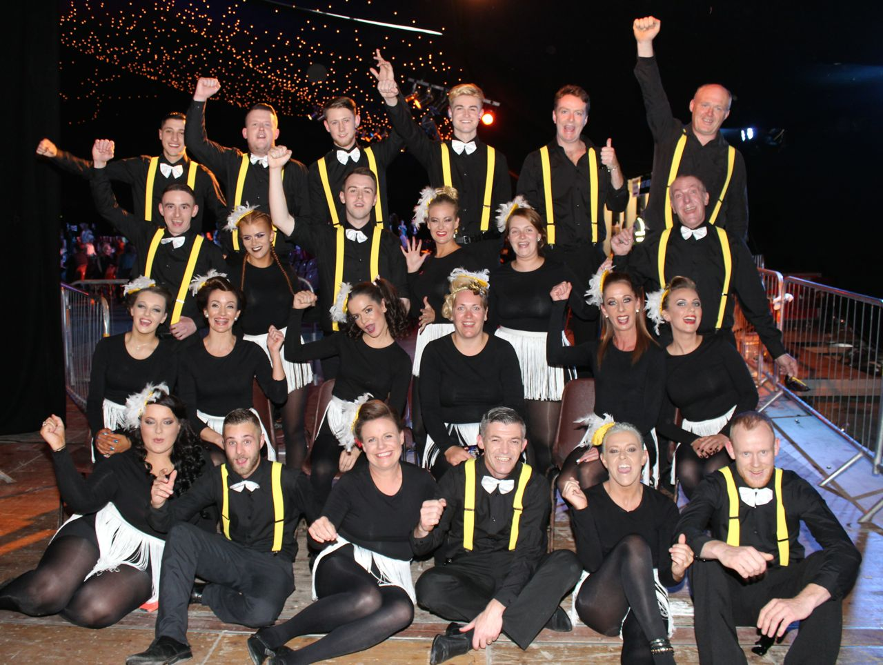 The contestants at the Austin Stacks Strictly Come Dancing night in The Dome on Saturday. Photo by Dermot Crean
