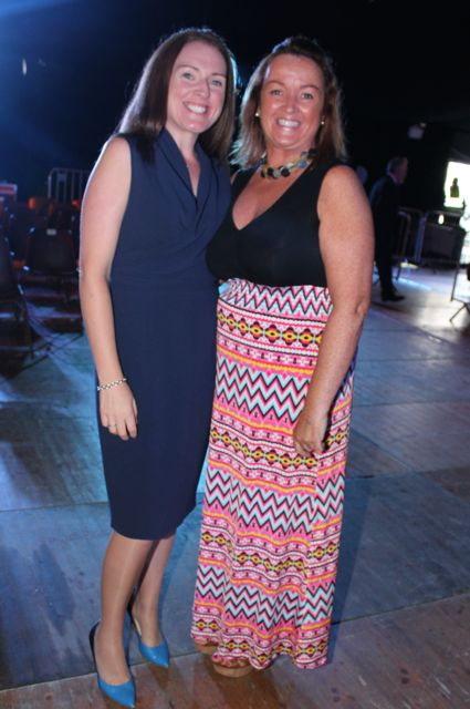 Deirdre O'Connor and Bria Keane at the Austin Stacks Strictly Come Dancing night in The Dome on Saturday. Photo by Dermot Crean