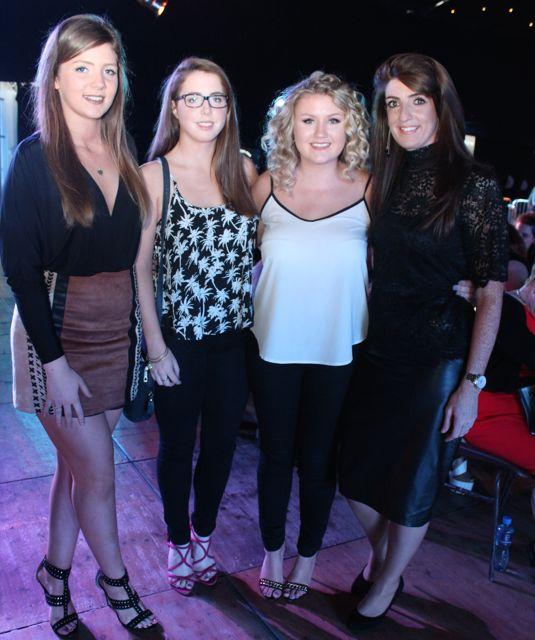 Shauna O'Sullivan, Veronica Heaslip, Abbie O'Sullivan and Mairead O'Sullivan at the Austin Stacks Strictly Come Dancing night in The Dome on Saturday. Photo by Dermot Crean