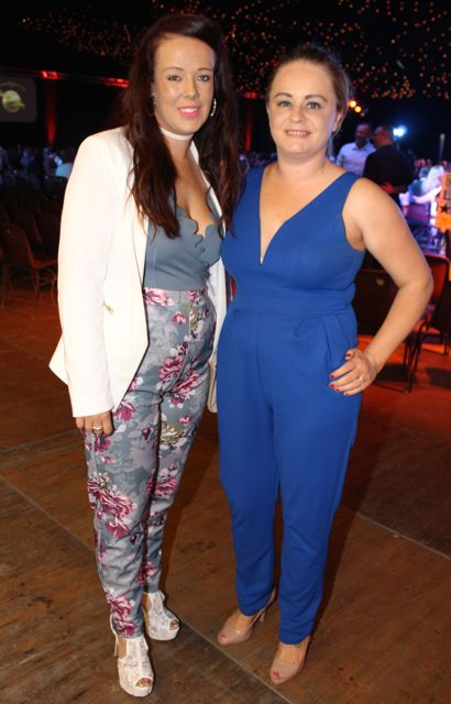 Nicole Quirke and Catriona Turner at the Austin Stacks Strictly Come Dancing night in The Dome on Saturday. Photo by Dermot Crean