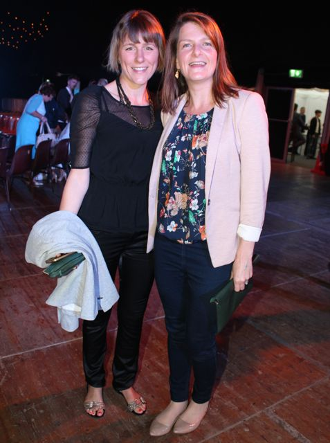 Ameli Boyle and Rachel Geary at the Austin Stacks Strictly Come Dancing night in The Dome on Saturday. Photo by Dermot Crean