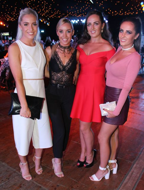 Leonie Flaherty, Laura Flaherty, Clodagh O'Sullivan and Brogan O'Sullivan at the Austin Stacks Strictly Come Dancing night in The Dome on Saturday. Photo by Dermot Crean