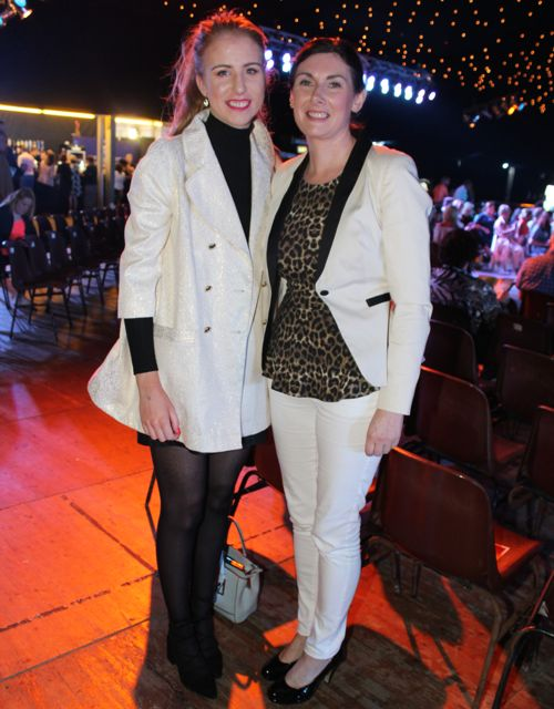 Amy Reidy and Mary Philpott at the Austin Stacks Strictly Come Dancing night in The Dome on Saturday. Photo by Dermot Crean