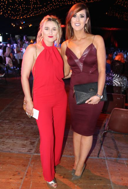 Rachel Lynch and Lesley Dennehy at the Austin Stacks Strictly Come Dancing night in The Dome on Saturday. Photo by Dermot Crean