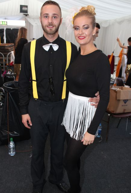 Daniel Sterc and Janna Foley at the Austin Stacks Strictly Come Dancing night in The Dome on Saturday. Photo by Dermot Crean