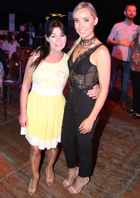 Miriam Owens and Laura Flaherty at the Austin Stacks Strictly Come Dancing night in The Dome on Saturday. Photo by Dermot Crean