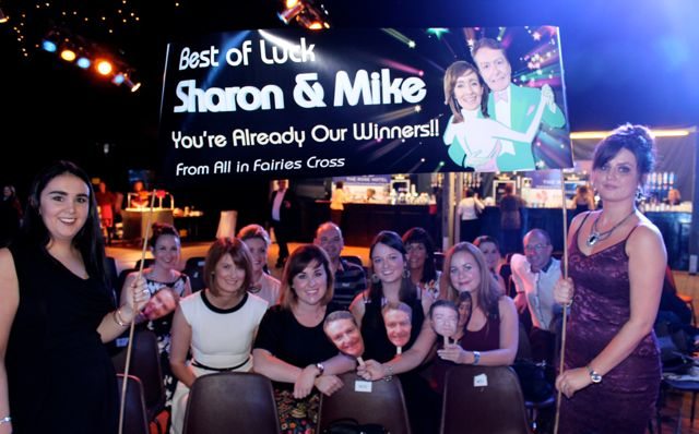 A group supporting Mike Ryle and Sharon Costello at the Austin Stacks Strictly Come Dancing night in The Dome on Saturday. Photo by Dermot Crean