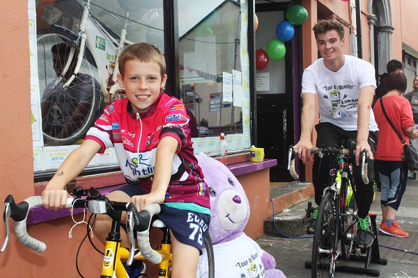 Ethan Fitzgerald and Simon Kerrisk at the Tour de Munster. Photo by Gavin O'Connor.