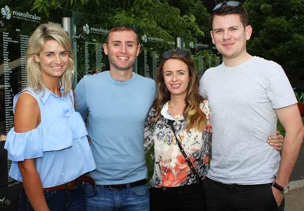 Audrey O'Meara, Sean O'Meara, Lisa McKeon and Ollie McKeon enjoying the festival in town. Photo by Gavin O'Connor.
