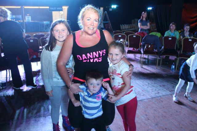 Brid Anne, Mike, Siun and Jane Dolan at the Zumbathon in the Dome on Saturday. Photo by Dermot Crean