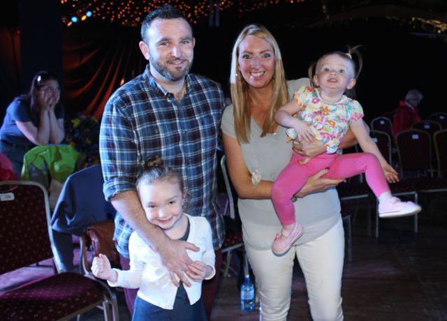 William, Mairead, Ava and Isobel O'Callaghan at the Zumbathon in the Dome on Saturday. Photo by Dermot Crean