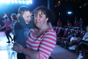 Rebecca and Adam Roche at the Zumbathon in the Dome on Saturday. Photo by Dermot Crean