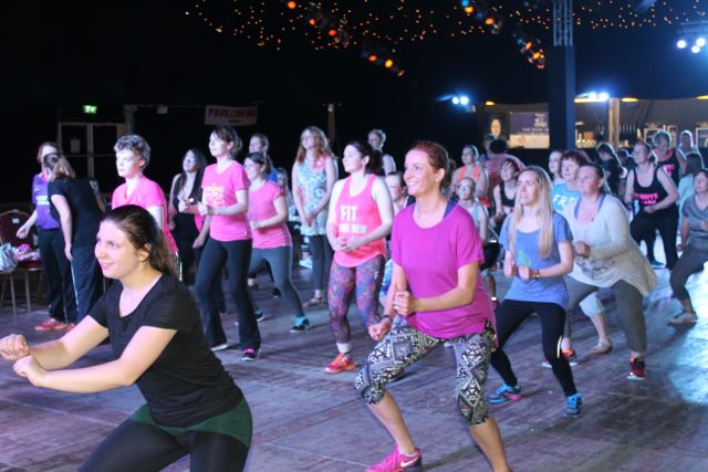 Having fun at the Zumbathon in the Dome on Saturday. Photo by Dermot Crean