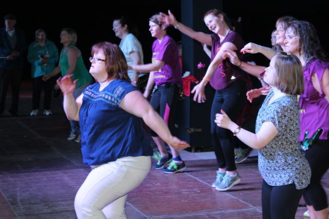 Taking part at the Zumbathon in the Dome on Saturday. Photo by Dermot Crean