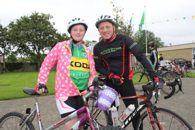 Katie and Mark Godley taking part in the Ardfert Harvest Cycle on Saturday morning. Photo by Dermot Crean