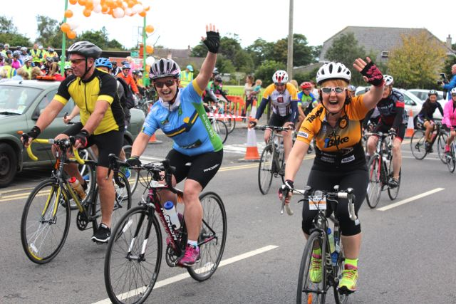 An enthusiastic start to the Ardfert Harvest Cycle on Saturday morning. Photo by Dermot Crean