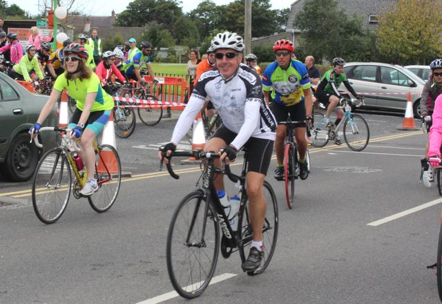 At the start of the Ardfert Harvest Cycle on Saturday morning. Photo by Dermot Crean