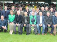 The Ballyduff 1991 county championship winning team presented at half-time during the game. Photo by Dermot Crean