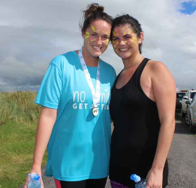 Sligo ladies, Maggie Hennessy and Sarah Melvin at the Banna Beast Challenge on Saturday. Photo by Dermot Crean