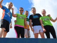 Alan O'Sullivan, Sandra O'Riordan, Damien Kissane, Damien Kelly and Julie Deenihan at the Banna Beast Challenge on Saturday. Photo by Dermot Crean