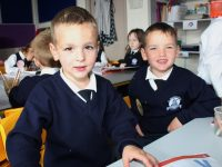 Starting in Blennerville National School were, from left: Twins, Jace and Rylan Flynn. Photo by Gavin O'Connor.