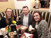 Rosalynd Hayes, Niall Harty and Louise O'Connor at the opening night of the Tralee Food Festival at Kirby's Brogue Inn on Friday evening. Photo by Dermot Crean