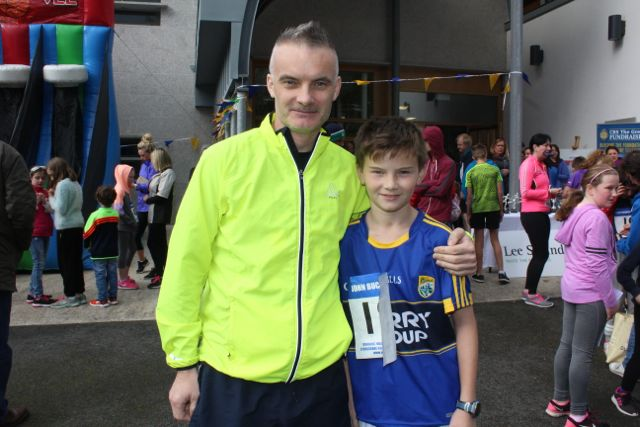 Philip and Alan O'Connor at the CBS The Green Fun Run on Sunday afternoon. Photo by Dermot Crean