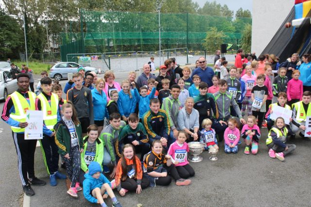Some of those taking part with the Kerry minors at the CBS The Green Fun Run on Sunday afternoon. Photo by Dermot Crean