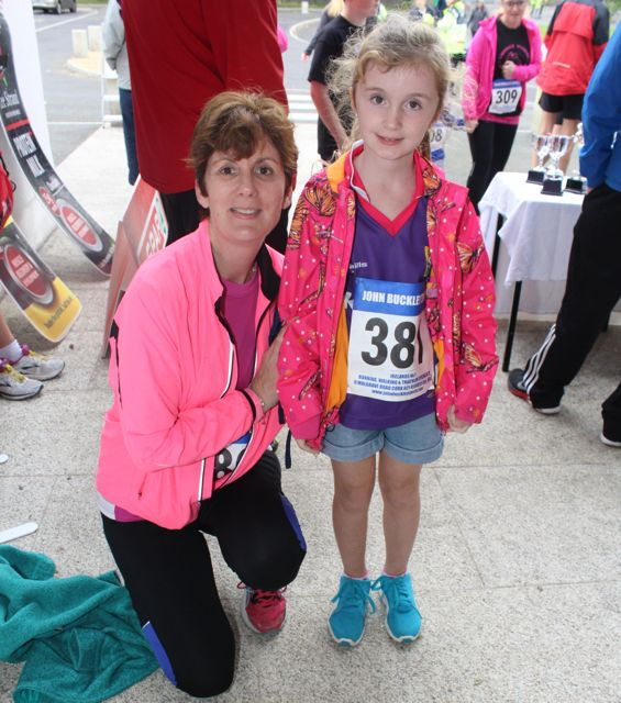 Brenda and Aoife O'Connell at the CBS The Green Fun Run on Sunday afternoon. Photo by Dermot Crean