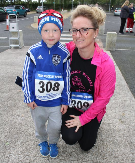 Ryan and Melissa Nix at the CBS The Green Fun Run on Sunday afternoon. Photo by Dermot Crean