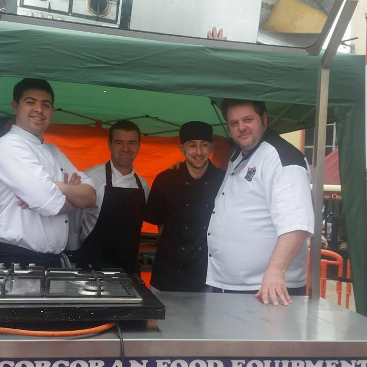 The Tralee Cukinary Gangsters giving a cookery demo in The Square.