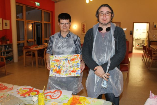 Vincent O'Mahony and James O'Connell, Cahersiveen, at the Culture Night event at Baile Mhuire Day Care Centre in Balloonagh. Photo by Dermot Crean