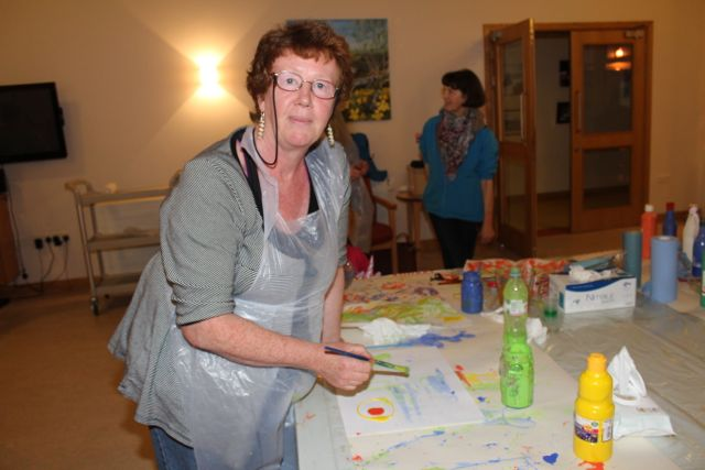 Lucy Henehan at the Culture Night event at Baile Mhuire Day Care Centre in Balloonagh. Photo by Dermot Crean