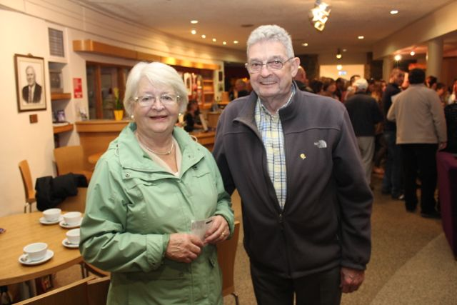 Breda and Ted Moynihan at the Culture Night activities in Siamsa Tire. Photo by Dermot Crean