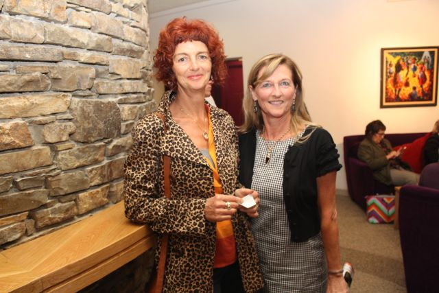 Noreen Ni Chrualaoi and Norrie O'Connell at the Culture Night activities in Siamsa Tire. Photo by Dermot Crean